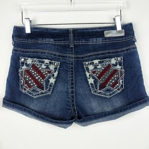 Wallflower jean shorts embellished star pockets jr